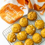 gluten and dairy free pumpkin cookies with chocolate chips