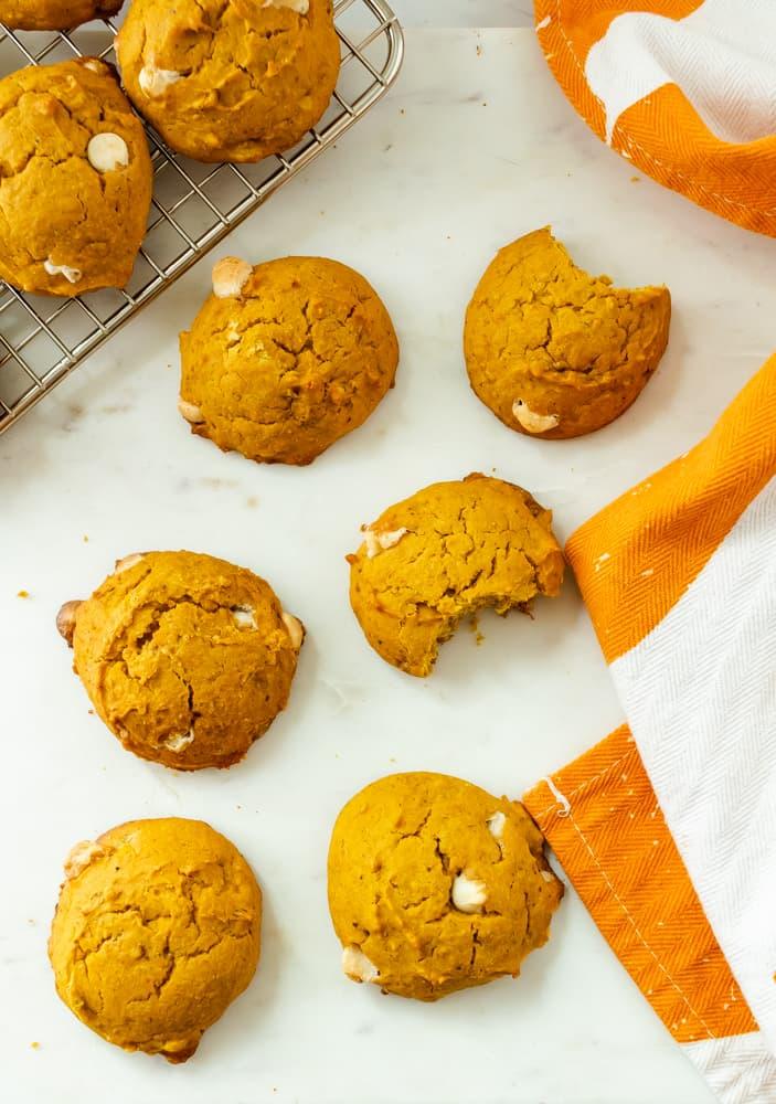 super soft gluten free pumpkin cookies