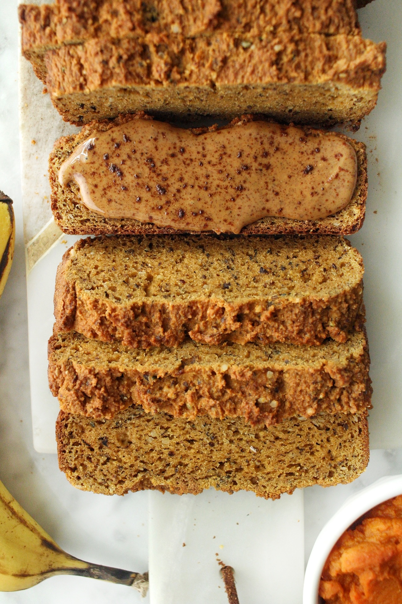 grain free pumpkin banana bread