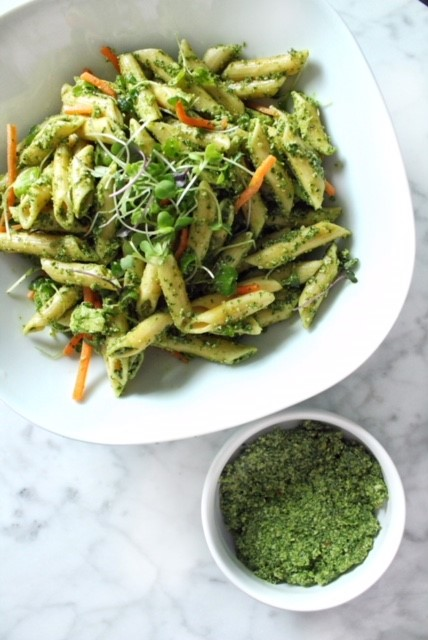 spicy kale and lemon pesto