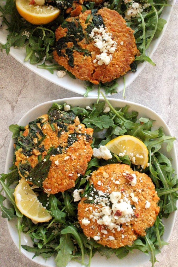 turmeric salmon oat cakes