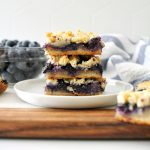 paleo blueberry shortbread bars