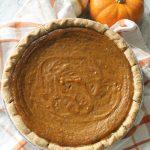easy pumpkin pie made with coconut milk