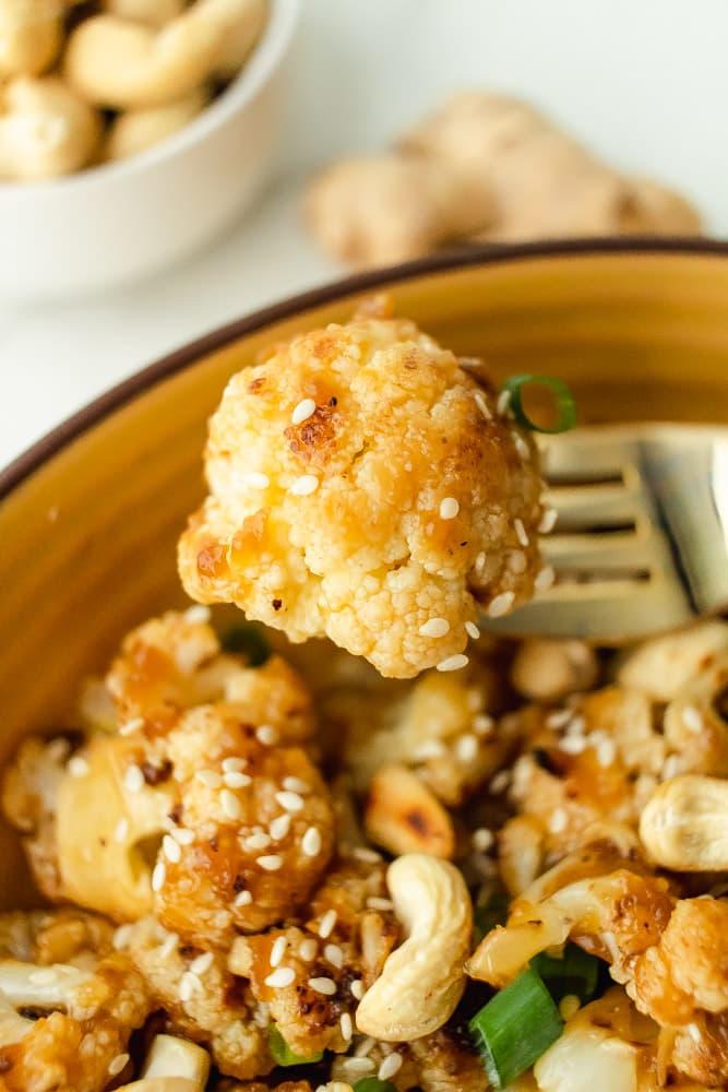 healthy kung pao cashew cauliflower