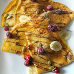 Pumpkin Crepes with Alouette Pumpkin Spice Cheese