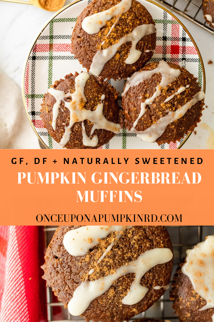 delicious pumpkin gingerbread muffins