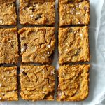 gluten free pumpkin chickpea blondies