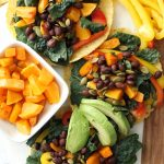 kale black bean tacos