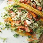 simple salmon tacos