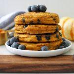 fluffy pumpkin blueberry pancakes