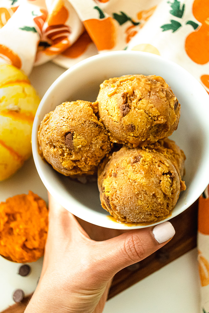 pumpkin cookie dough nice cream