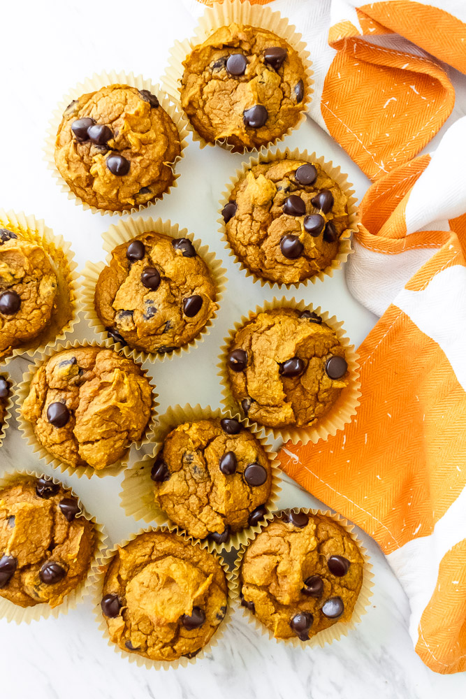 best healthy pumpkin muffins with chocolate chips