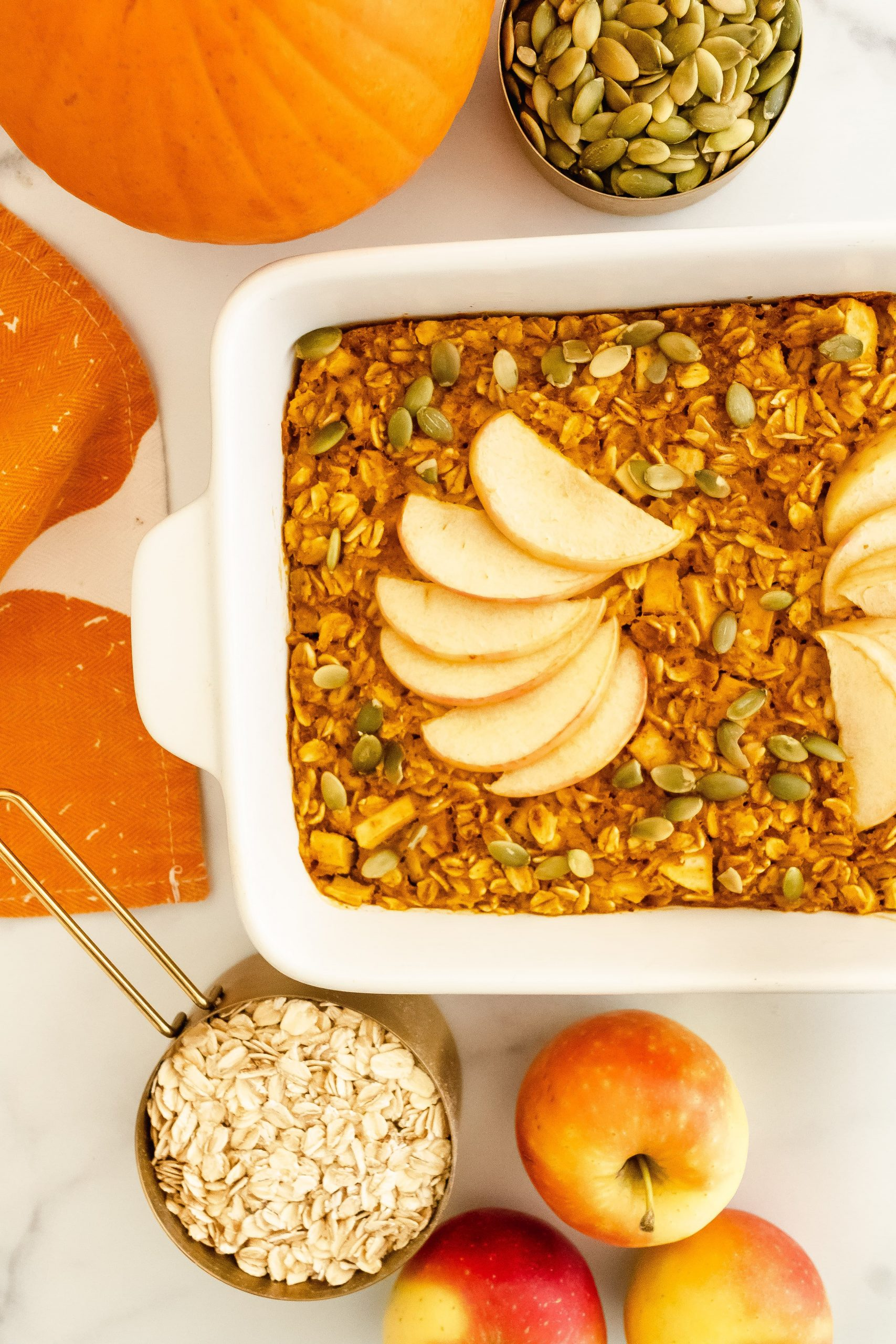 Pumpkin Apple Baked Oatmeal