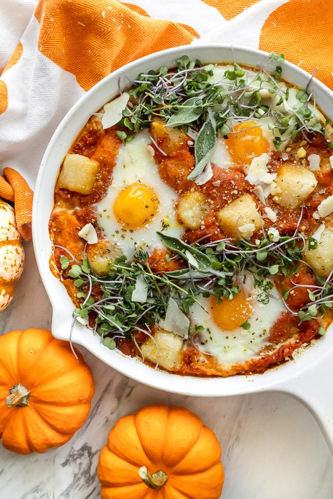 how to make pumpkin shakshuka