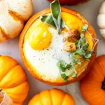mini pumpkin egg bake