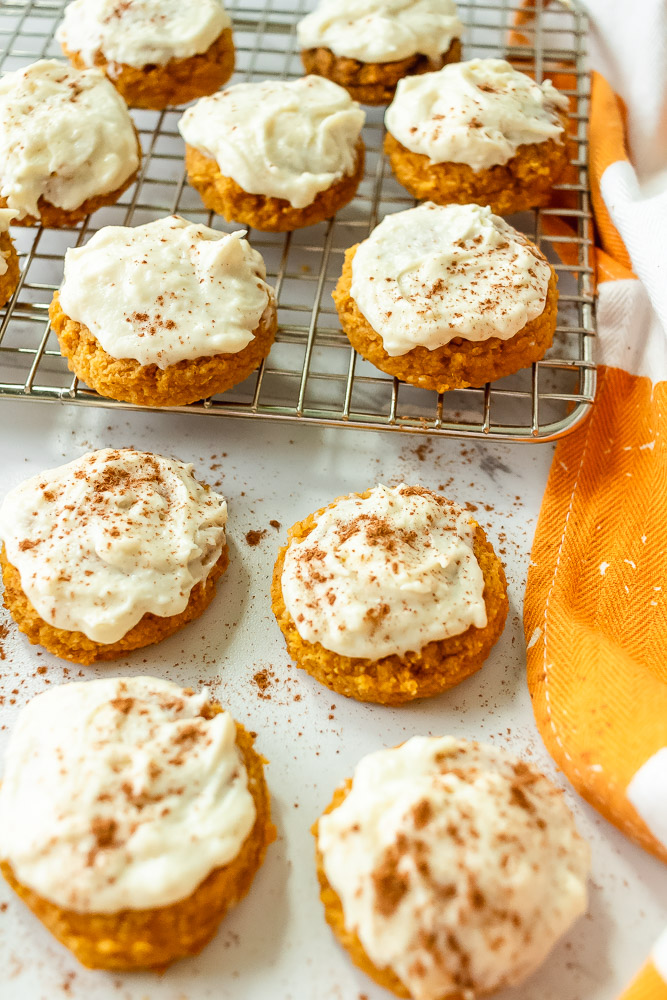 Pillowy Pumpkin Cookies With Dairy-Free Pumpkin Cream Cheese Frosting