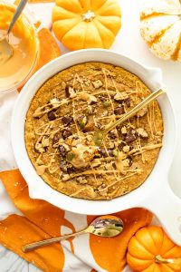 paleo pumpkin cookie skillet