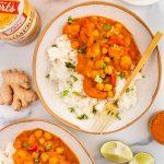 pumpkin chickpea cauliflower curry