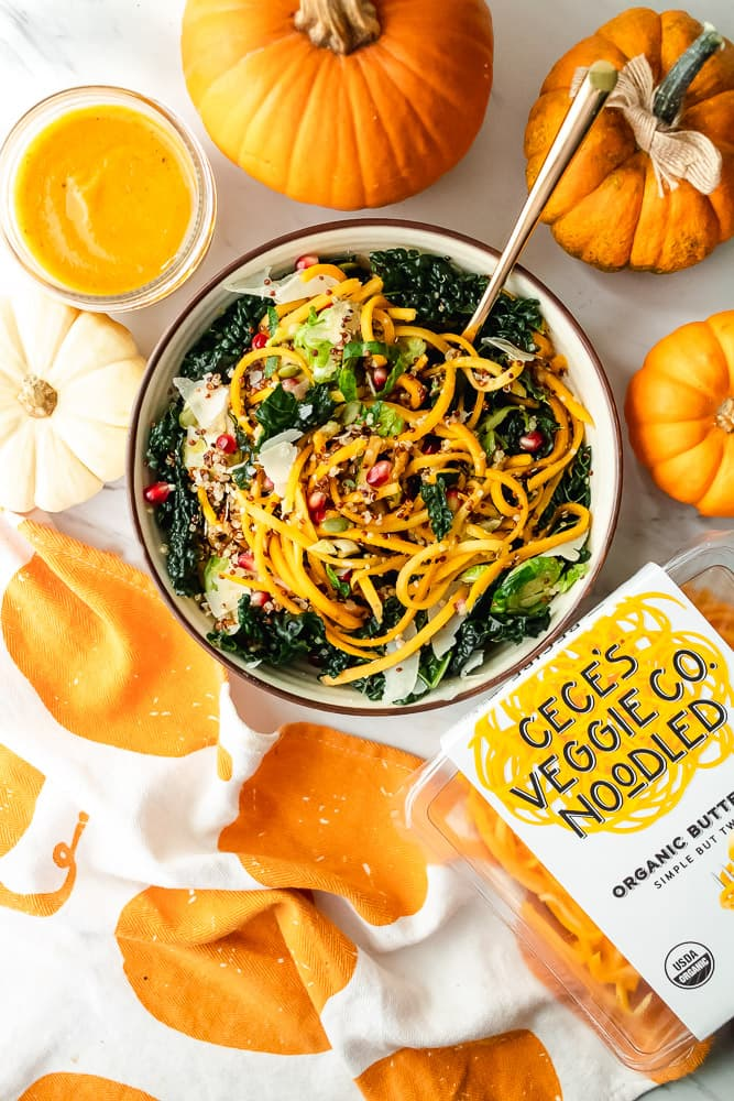 simple butternut squash pasta salad