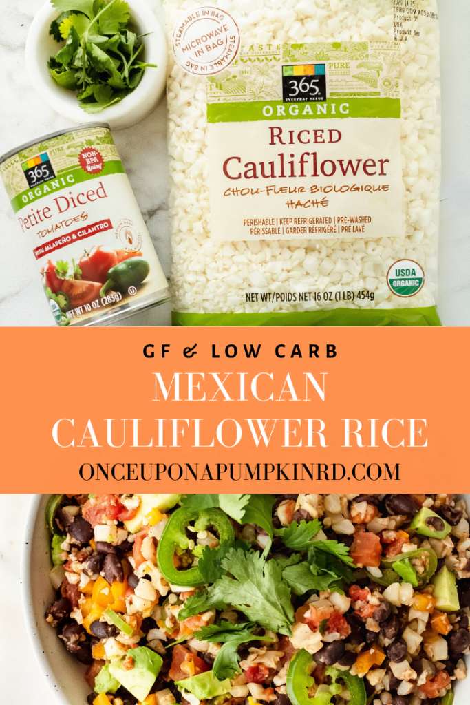 mexican cauliflower rice with black beans