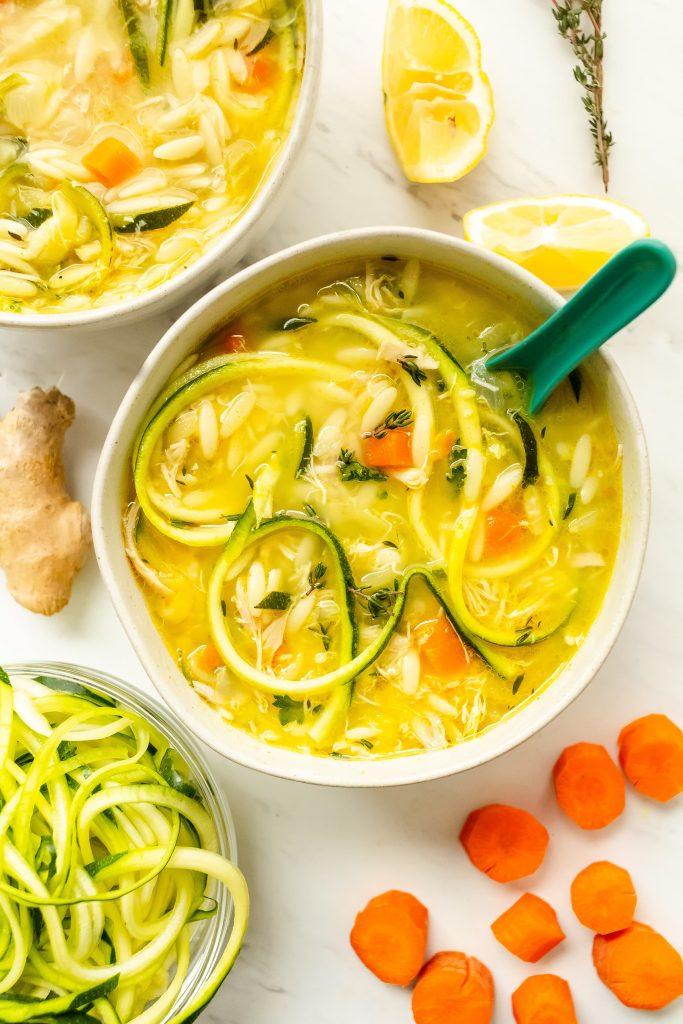 zucchini noodle chicken soup