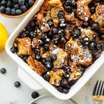 blueberry brioche french toast