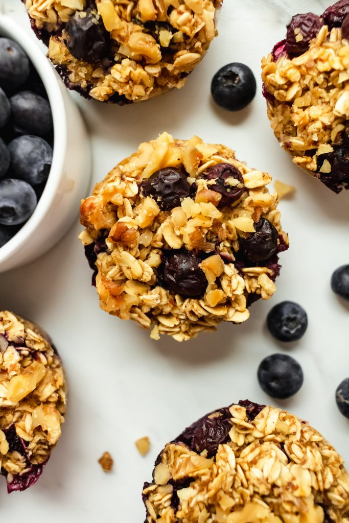 Blueberry Lemon Oatmeal Cups