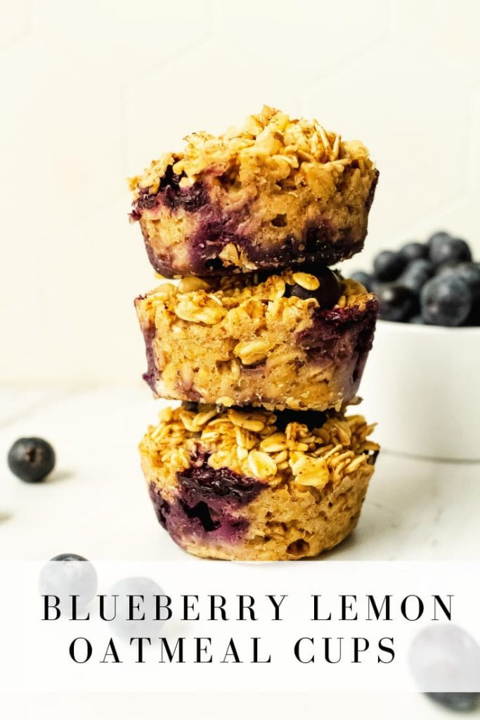 delicious blueberry lemon oatmeal cups