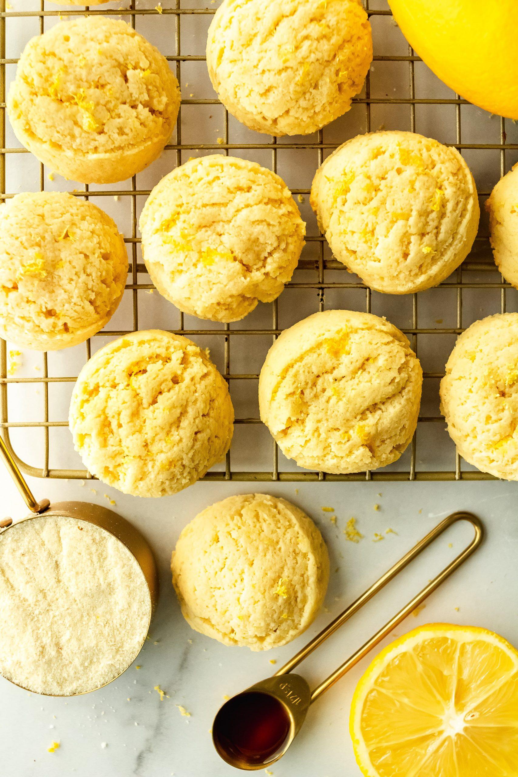 grain free lemon sugar cookies