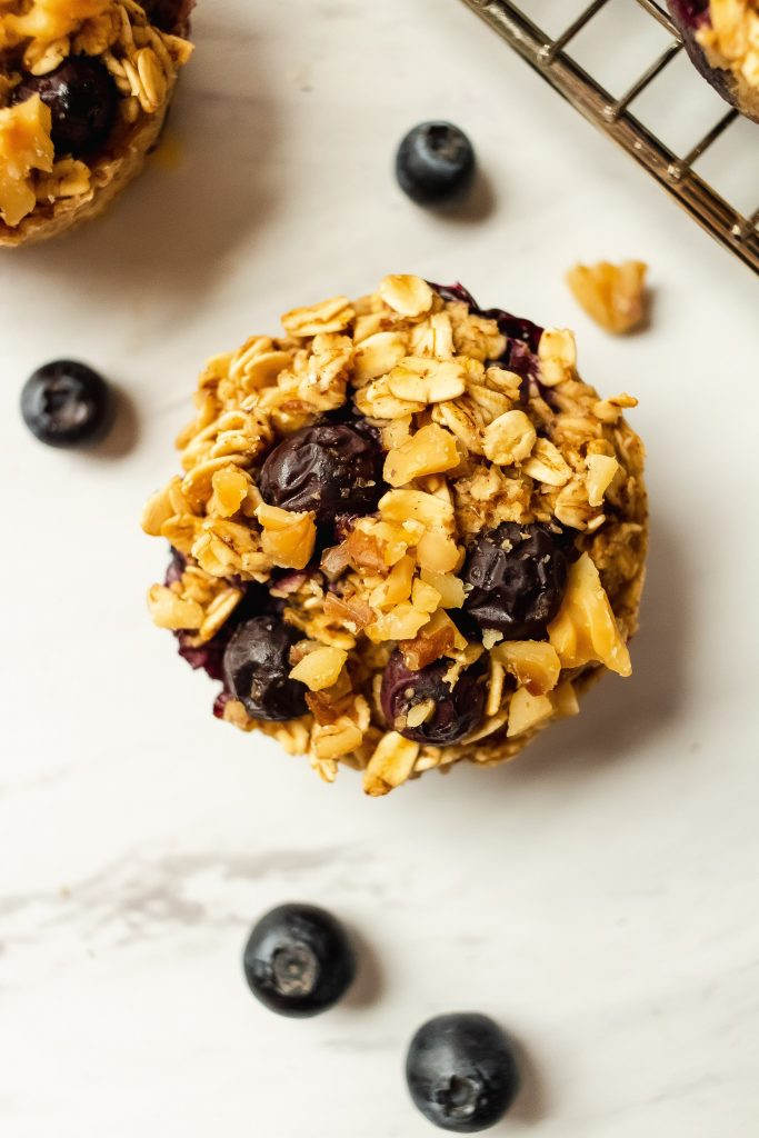 healthy blueberry oatmeal cups