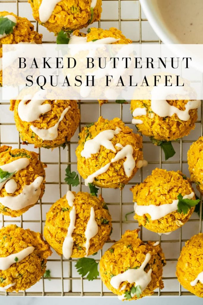 how to make baked butternut squash falafel