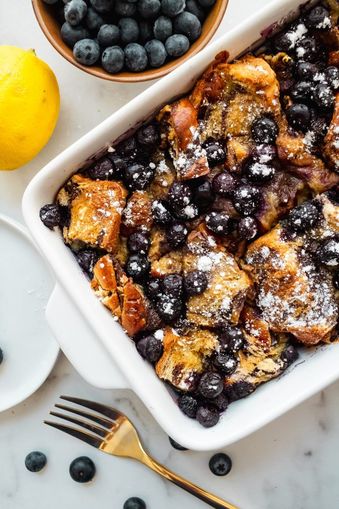how to make blueberry brioche french toast