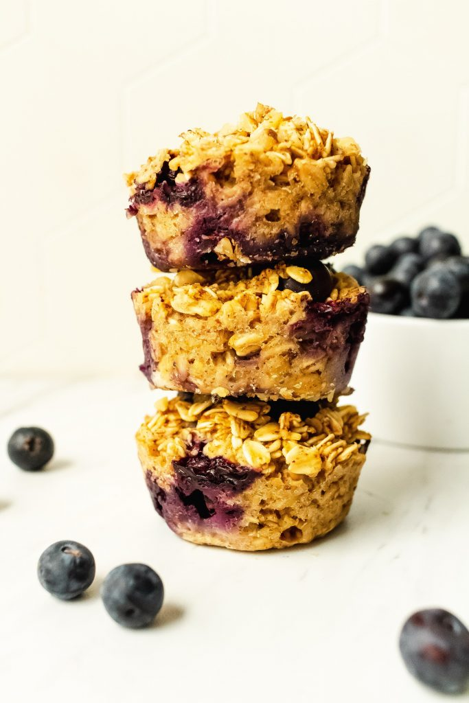 how to make blueberry lemon oatmeal cups