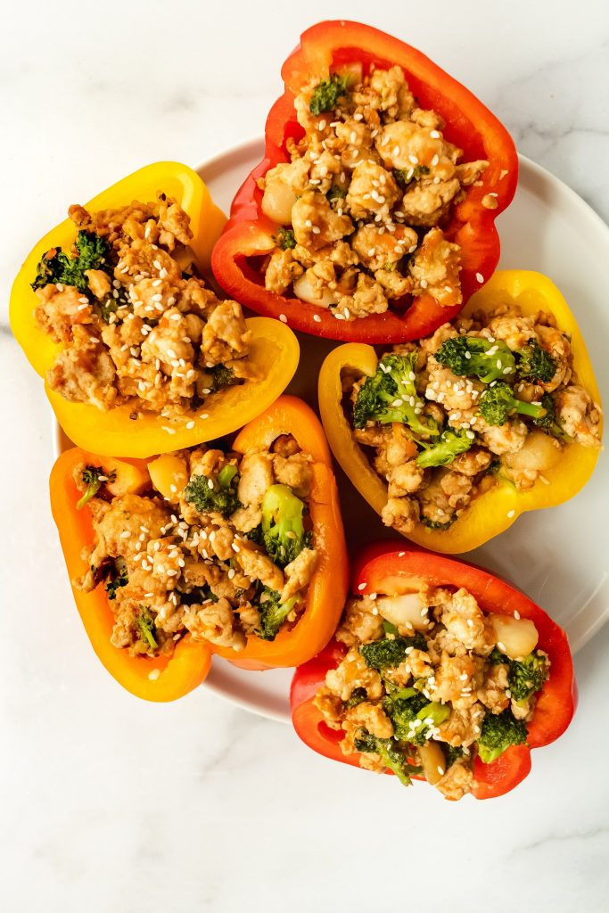 gluten and dairy free turkey stuffed peppers