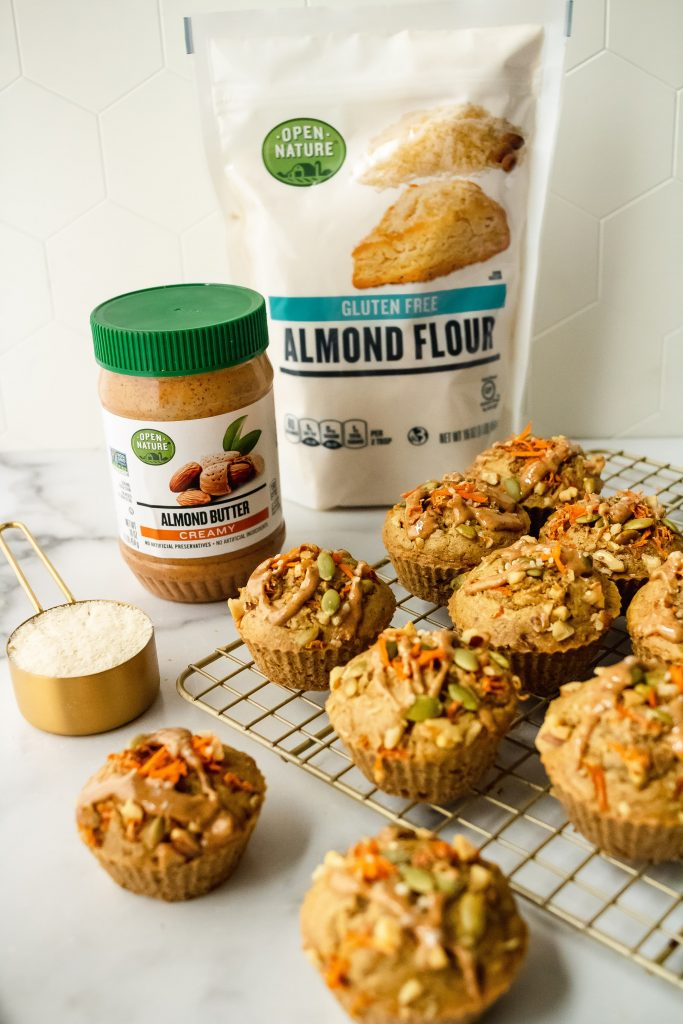 how to make almond butter carrot breakfast muffins