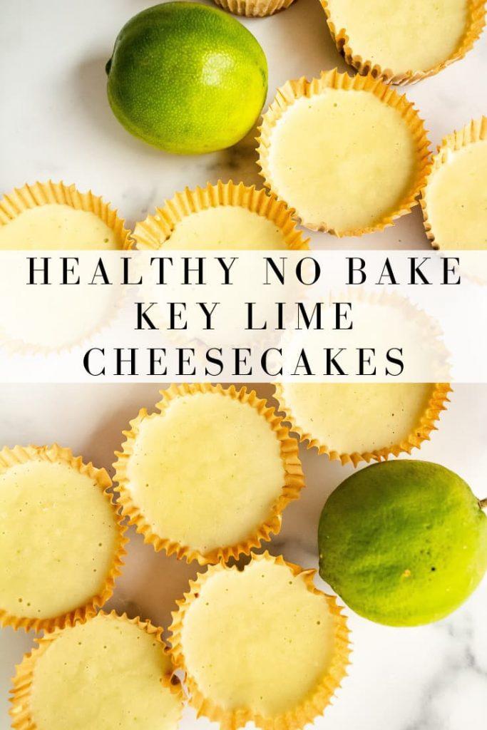 raw mini key lime cheesecakes