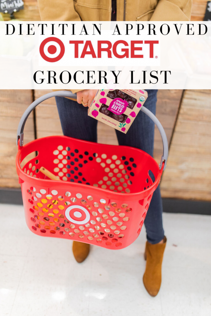Registered dietitian approved target grocery list