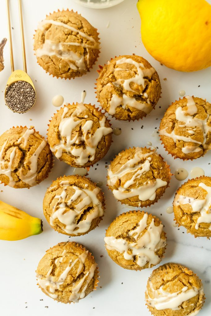 best banana lemon chia seed muffins