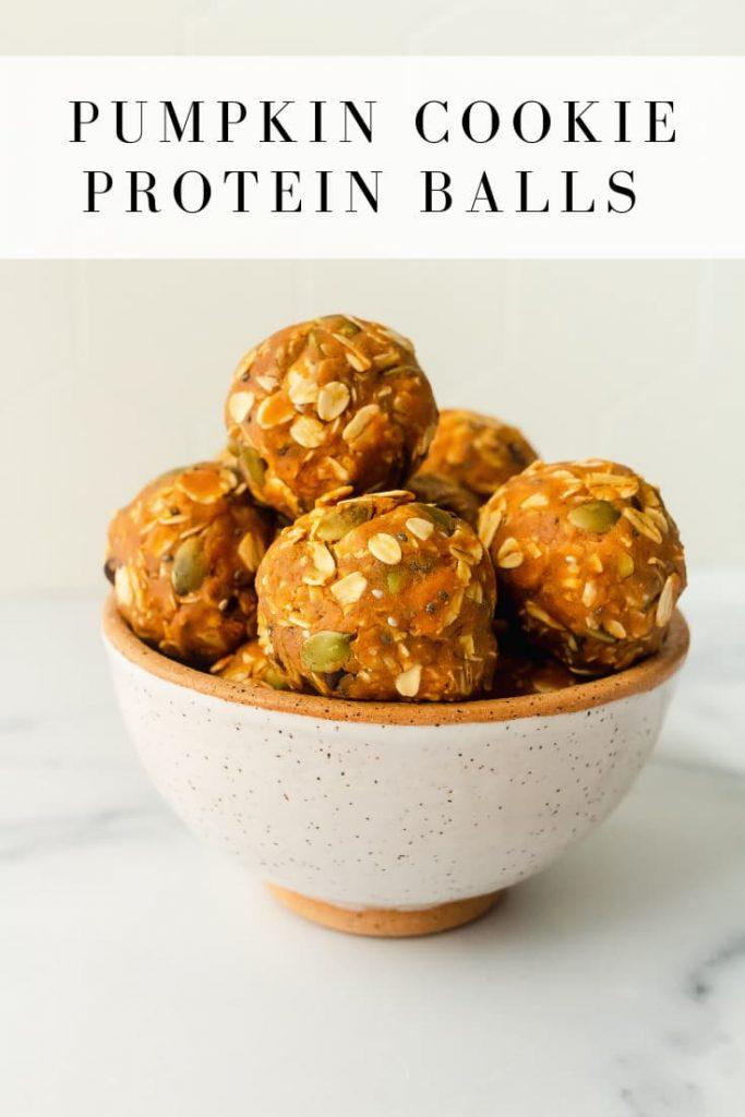 best pumpkin cookie protein balls