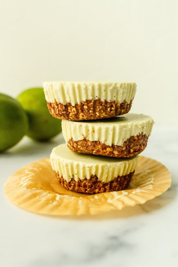delicious and healthy no bake key lime pie cheesecakes