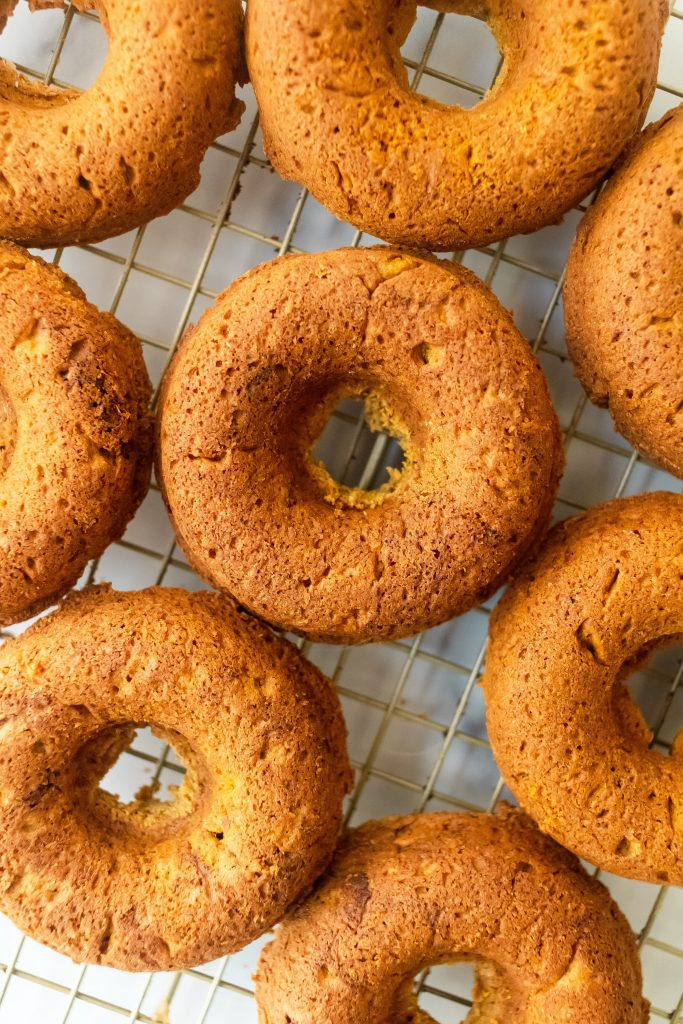 fluffy and delicious baked pumpkin donuts