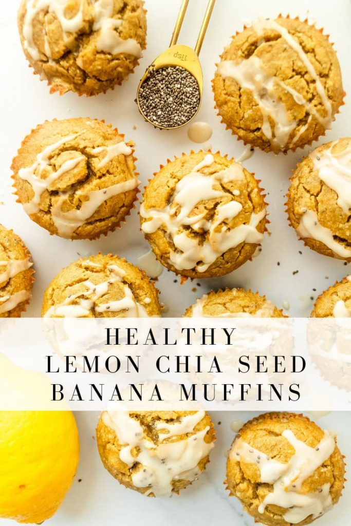 how to make lemon chia seed bananas muffins