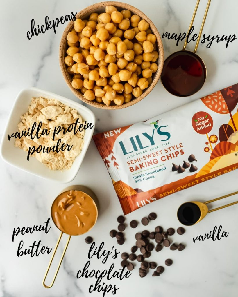 ingredients for pumpkin chickpea cookie dough balls