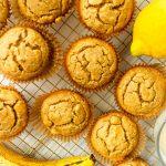 lemon chia seed banana muffins