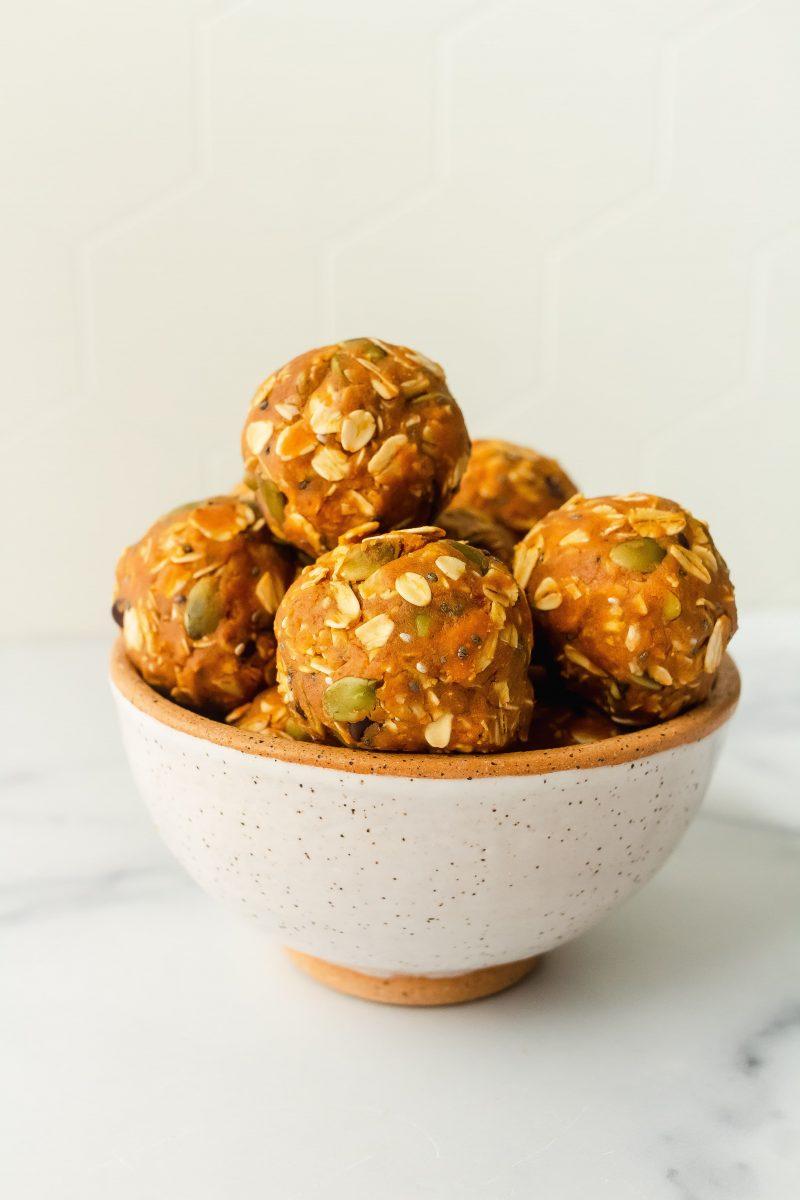 pumpkin cookie protein balls
