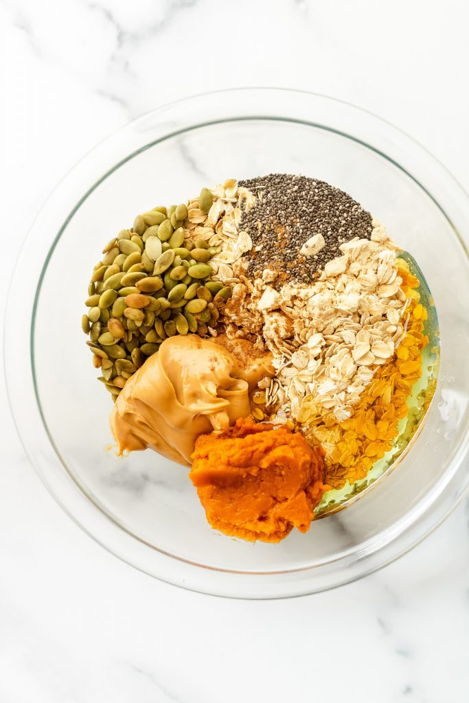 pumpkin protein energy bites