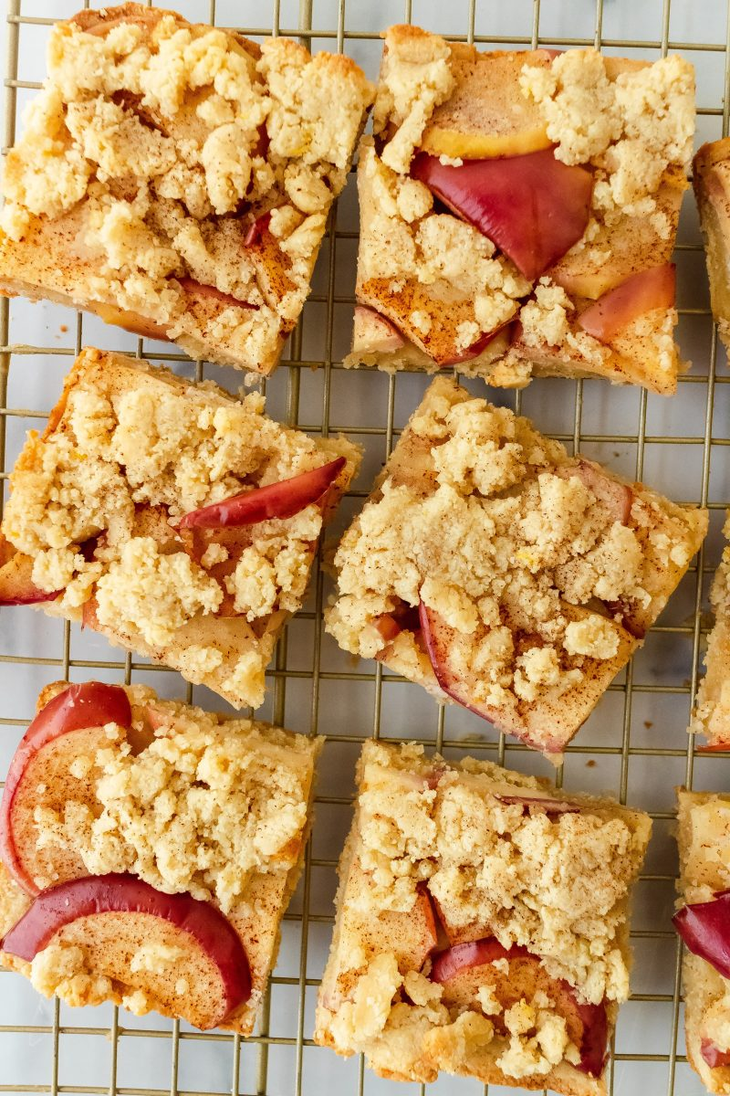 gluten and dairy free apple shortbread bars