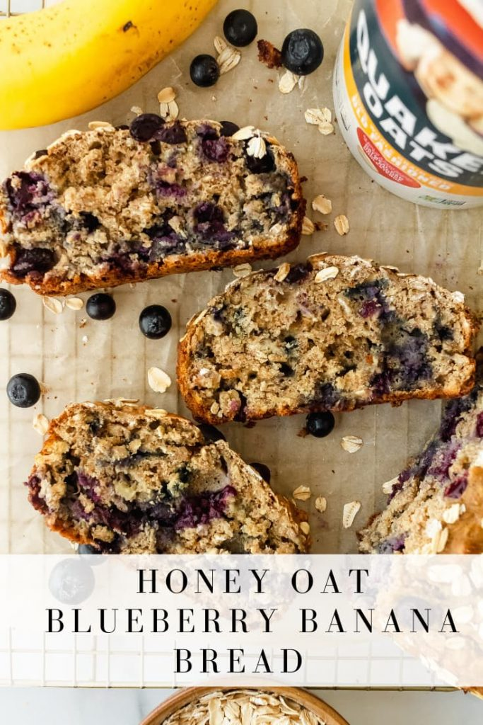 how to make honey oat blueberry banana bread
