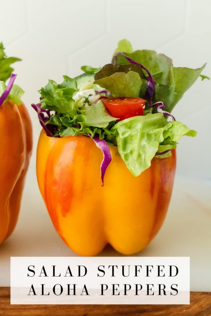 how to make salad stuffed peppers