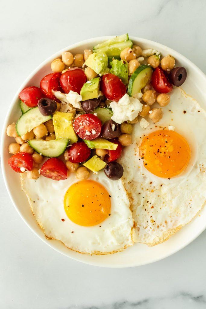 mediterranean egg breakfast plate
